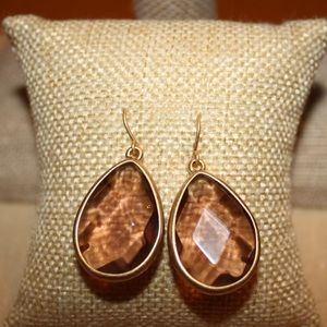 Minaret Light Rose Teardrop Earrings